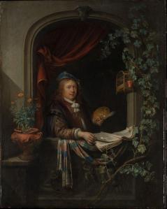 Gérard Dou. Autoportrait (v. 1665)