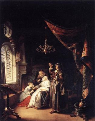 Gérard Dou. La femme hydropique (1663)