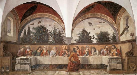 Ghirlandaio. La Cène (1480)