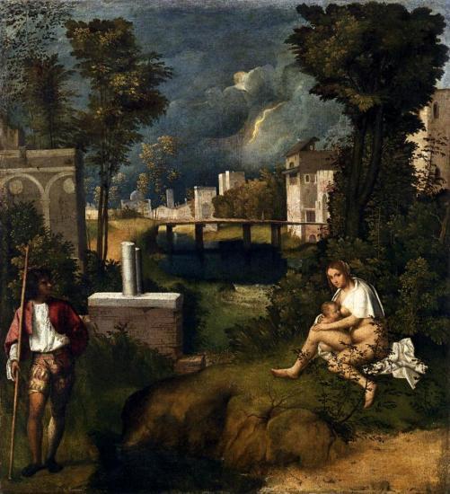 Giorgione. La tempête (v. 1505)
