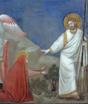 Giotto. Noli me tangere, détail (1304-06)