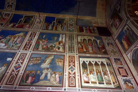 Giotto. Scènes de la vie de la Vierge, vue d'ensemble (1304-06)