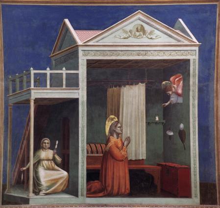 Giotto. Annonciation à Sainte-Anne (1304-06)
