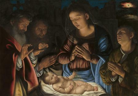 Giovanni Girolamo Savoldo. Adoration des Bergers (1530-40)