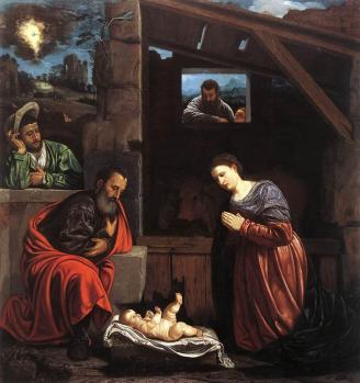 Giovanni Girolamo Savoldo. Adoration des bergers (v. 1540)