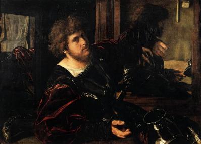 Giovanni Girolamo Savoldo. Autoportrait, dit autrefois Portrait de Gaston de Foix (v. 1525)