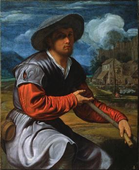 Giovanni Girolamo Savoldo. Berger avec flûte (v. 1525)
