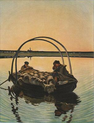 Giovanni Segantini. Ave Maria pendant la traversée (1886)