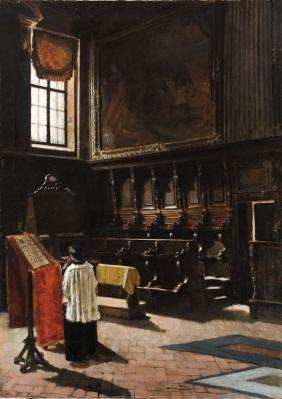 Giovanni Segantini. Le chœur de l'église Sant'Antonio Abato à Milan (1879)