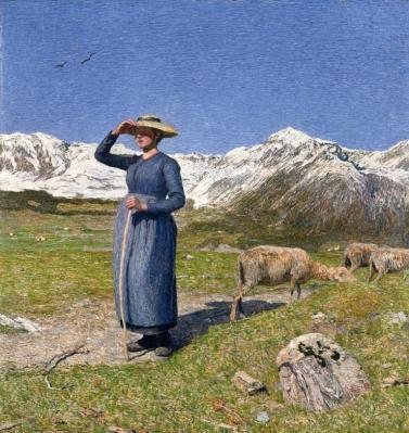 Giovanni Segantini. Midi dans les Alpes (Journée venteuse) (1891)