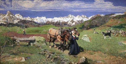 Giovanni Segantini. Printemps dans les Alpes (1897)