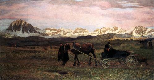 Giovanni Segantini. Retour à la maison (Le dernier voyage) (1895)