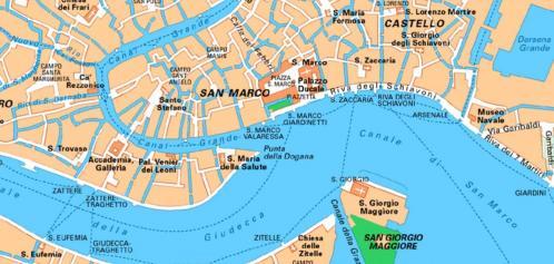 Plan de l'entrée du Grand Canal