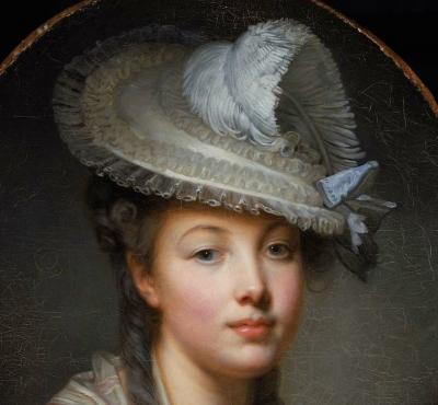 Jean-Baptiste Greuze. Le Chapeau blanc, détail (1780)