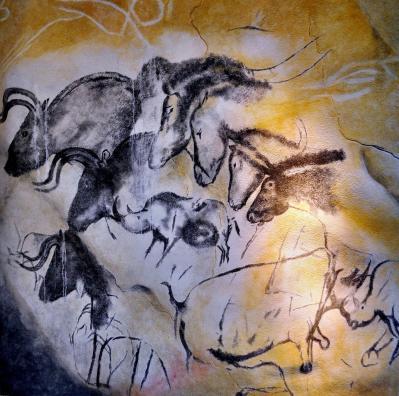 Grotte Chauvet. Chevaux et rhinocéros (-31 000)