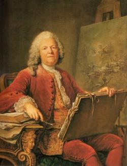 Guillaune Voiriot. Portrait de Jean-Marc Nattier (v. 1759)