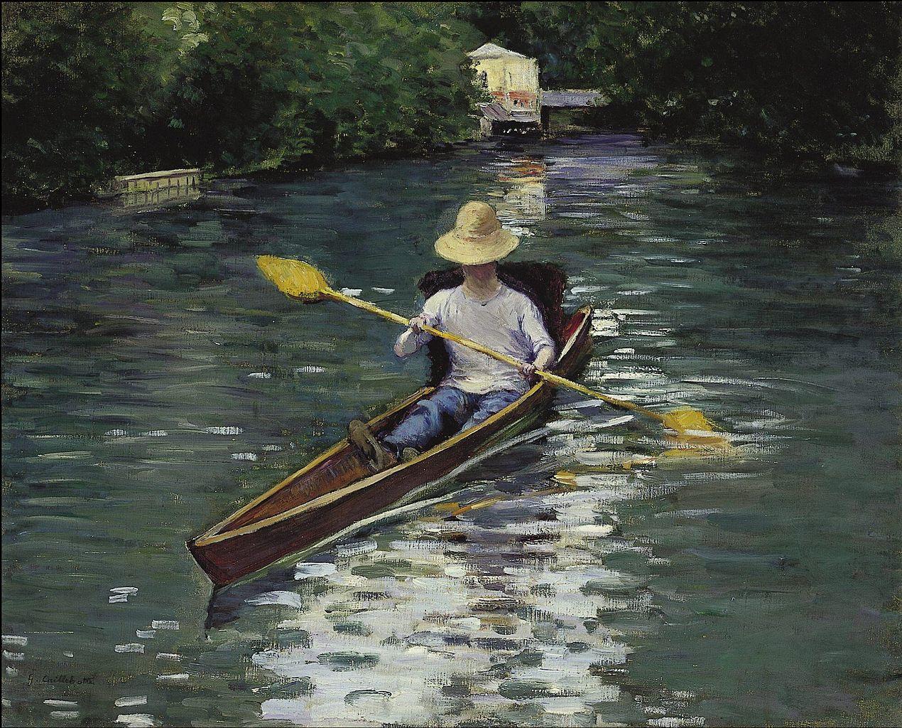 Ca s'est passé en août ! Gustave-caillebotte.-canoe-sur-la-riviere-yerres-1878-