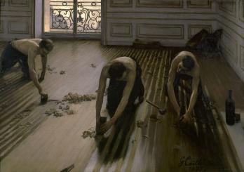 Gustave Caillebotte. Les raboteurs de parquet (1875)