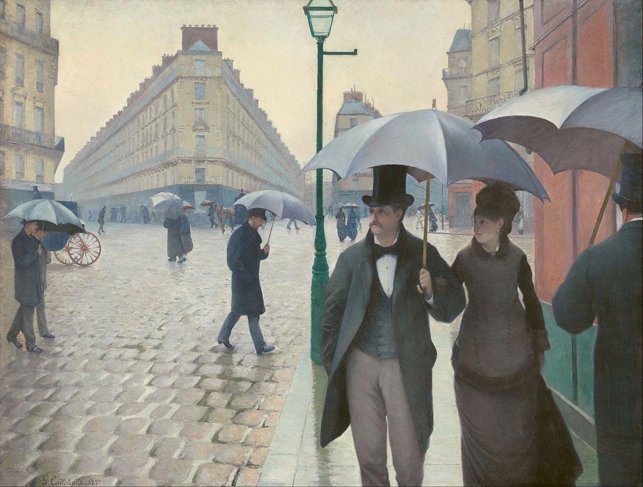 Ca s'est passé en août ! Gustave-caillebotte.-rue-de-paris-temps-de-pluie-1877-