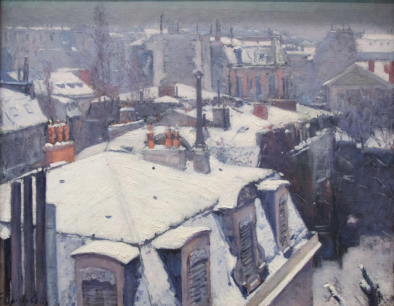 Ca s'est passé en août ! Gustave-caillebotte.-vue-de-toits-effet-de-neige-1878-