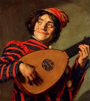 Frans Hals. Bouffon au luth (1623-24)