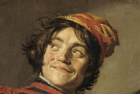 Frans Hals. Bouffon au luth, détail