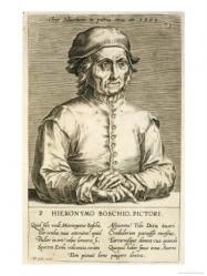 Hendrik Hondius l'Ancien. Portrait de Jérôme Bosch (1610)
