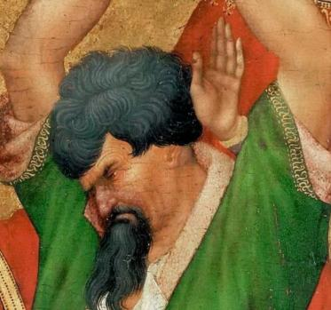 Henri Bellechose. Le retable de saint Denis, détail