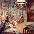 Henri Lebasque. La famille sous la lampe (v. 1905)