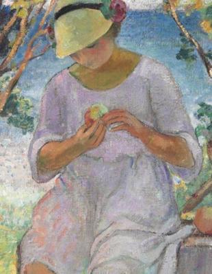 Henri Lebasque. Le goûter sur la terrasse à Sainte-Maxime, détail
