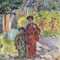 Henri Lebasque. Marthe et Nono en japonaises (1905-10)