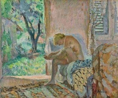 Henri Lebasque. Nu assis sur un canapé près de la fenêtre (1934-35)
