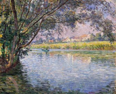 Henri Lebasque. Rives de la Marne, près de Montévrain (1900)