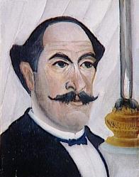 Henri Rousseau. Autoportrait de l'artiste à la lampe (1902-03)
