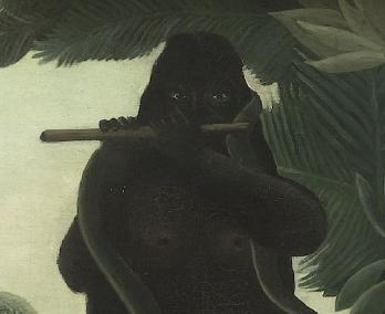 Henri Rousseau. La charmeuse de serpents, détail