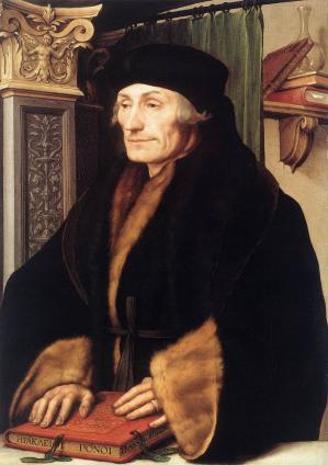 Holbein le Jeune. Portrait d'Érasme (1523)