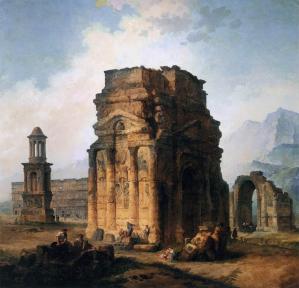 Hubert Robert. L'Arc de triomphe et le Théâtre d'Orange (1786)
