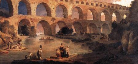 Hubert Robert. Le Pont du Gard, détail