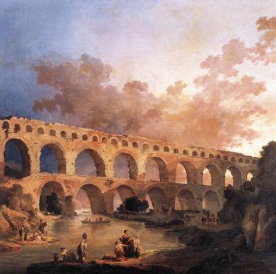Hubert Robert. Le Pont du Gard (1787)