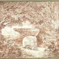 Hubert Robert. Un artiste dessinant à Rome dans les jardins Farnèse (2e moitié 18e s.)