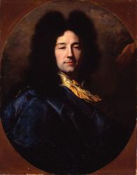 Hyacinthe Rigaud. Autoportrait au manteau bleu (1696)