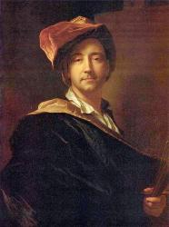 Hyacinthe Rigaud. Autoportrait au turban (1698)