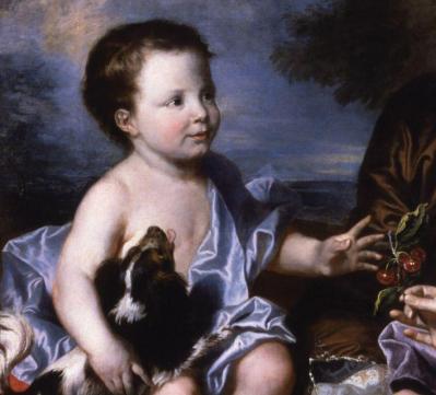 Hyacinthe Rigaud. La famille Léonard, détail
