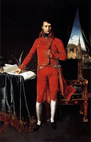 Ingres. Napoléon Bonaparte en Premier Consul (1803-04)