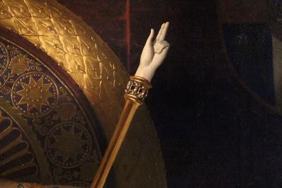 La main de justice (détail)