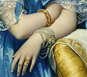 Ingres. La princesse de Broglie, détail