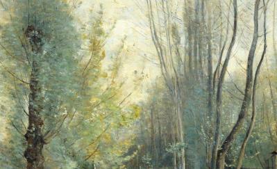 J-B. Corot. Matin près de Beauvais, détail