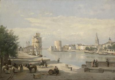 J-B. Corot. Le port de La Rochelle (1851)