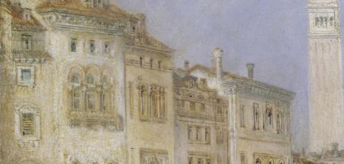 J.M.W. Turner. Le Grand Canal, Venise, détail (1835)