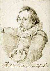 Jacob Van Campen. Portrait de Pieter Saenredam (1628)